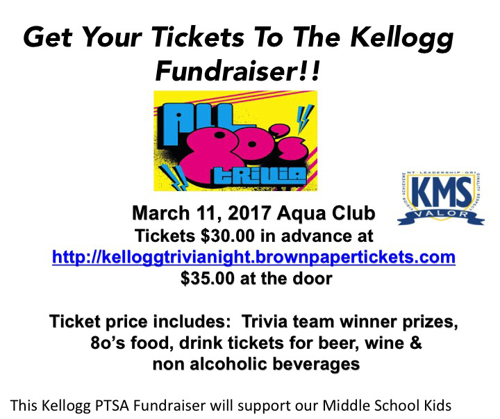 Save the Date! All 80′s Trivia Night Fundraiser Tickets On Sale Now!!