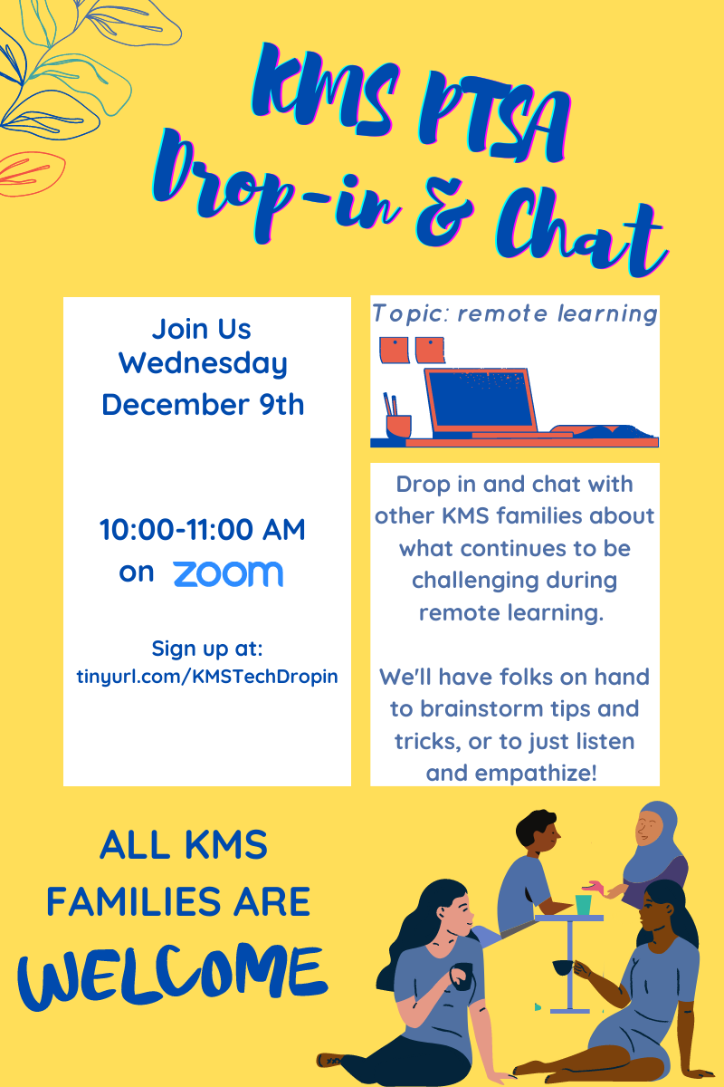 Drop-in & Chat! 12/9 @ 10am
