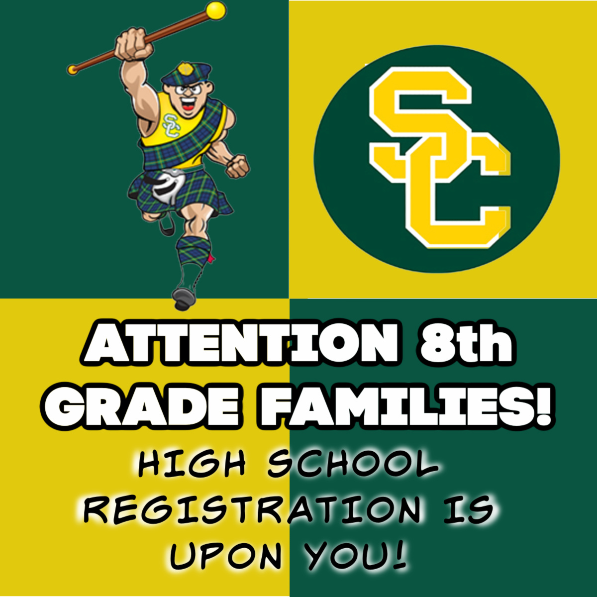 IMPORTANT REGISTRATION INFO FOR CURRENT 8TH GRADE FAMILIES