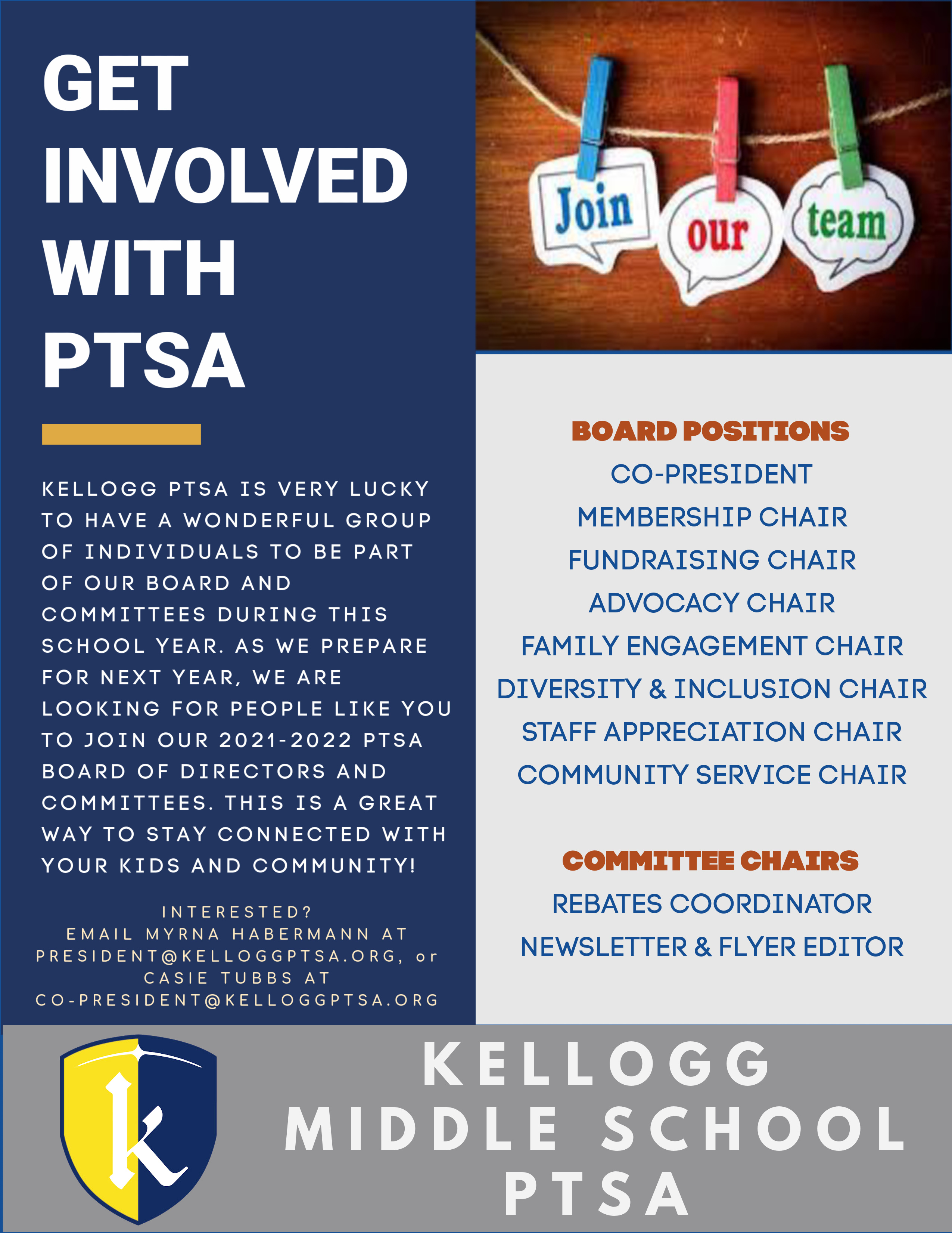 2021-2022 Board & Committee Positions are open!